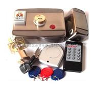 ID电子静音智能锁(双锁头单片钥匙)